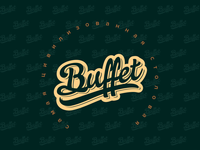 """logo for fast food """"Buffet"""""""
