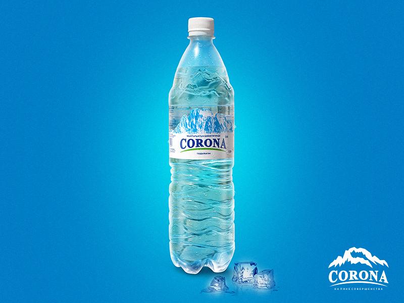 002 mountains crown drinking water bottle design bottle label bottle water typography printing art print graphic logo a day logodesign design branding