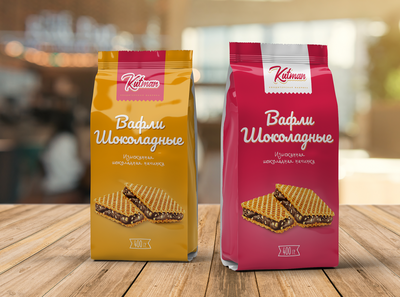pack chocolate waffles packaging design packaging package illustration printing print typography graphic identity design branding