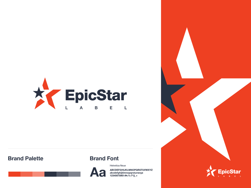 logo Epic Star vector logo a day dribbble red games game epic star logotype typography logo graphic design branding