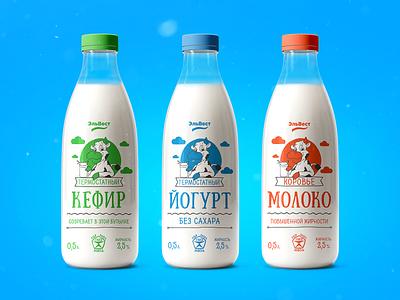 bottle02 kyrgyzstan organic natural label bottle label bottle milky milk packaging design package design packaging package pack printing illustration print typography graphic design branding