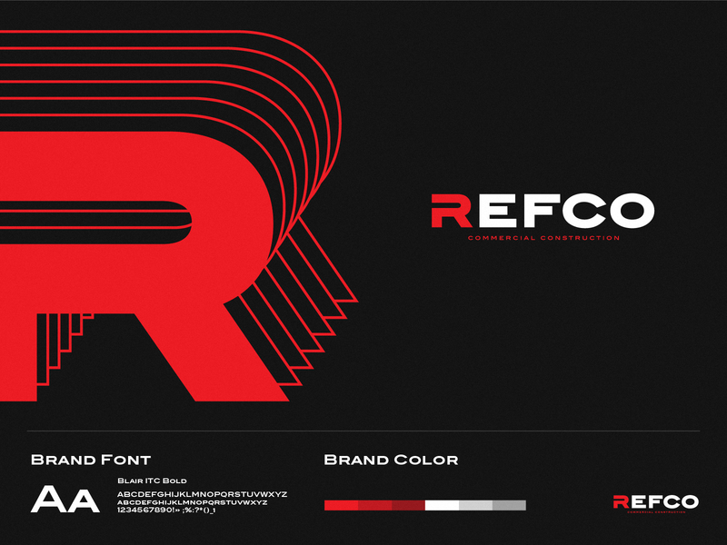 Logo Refco building build black red construction commercial graphic vector logo a day logotype logo typography logodesign identity design branding