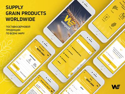 wexport app supplier app ui app design transportation supply dispatch delivery yellow grain export ios app application interface apple app ios ux ui branding design