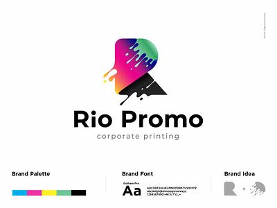 Rio Promo Logo product corporate branding corporate design logo promo rio printing logo a day logotype print typography logodesign identity graphic design branding