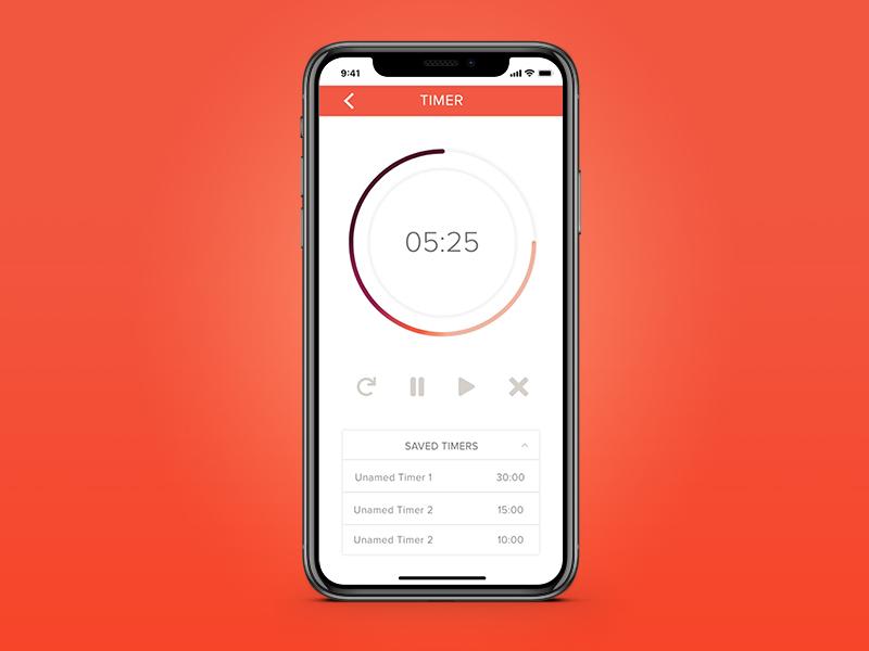 Daily UI 014 countdown timer app ux ui