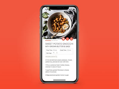 Daily UI 040 cooking recipe ux ui app