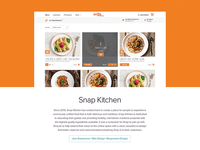 SeaLab Website Portfolio Snap Kitchen Sneak Peak