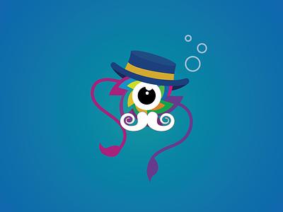 LeapDay William blue mascot logo design giant squid heather heather white austin austin tx sealab leapday william leapday