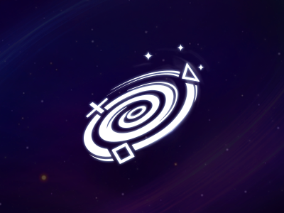 Playstation Universe playstation logo universe whirl galaxy space controller gaming game logo spinning