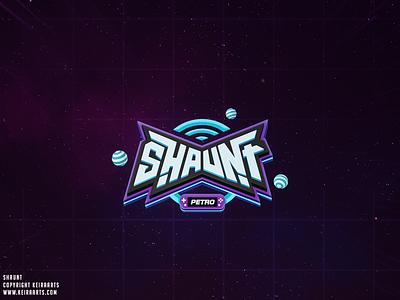 Shaunt - Logo Design logo electric stream design brand retro keira fun gaming console game app
