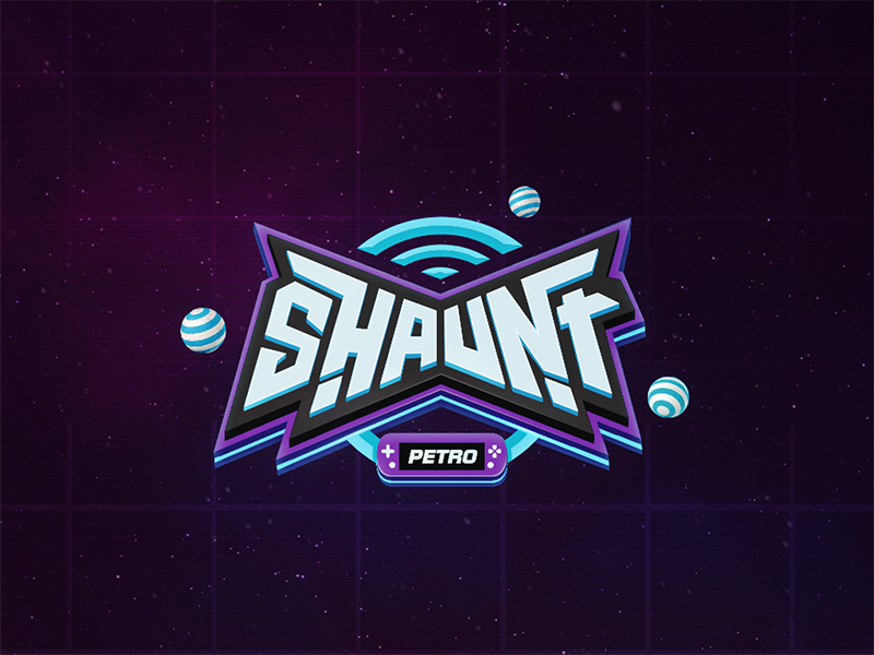 Shaunt - Logo Design logo electric stream design brand retro keira fun gaming console game app