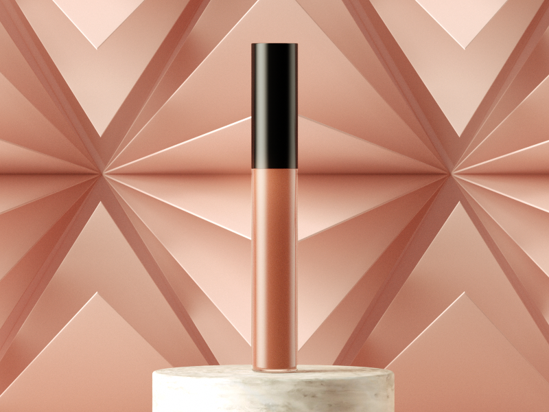 Lipgloss product design c4d octane cinema4d geometric patterns beauty makeup cosmetics product photography
