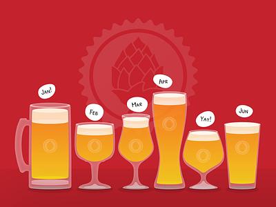 Beer <3 beer glass illustration brew
