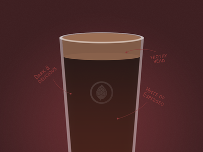 Beer <3 2 beer glass illustration brew