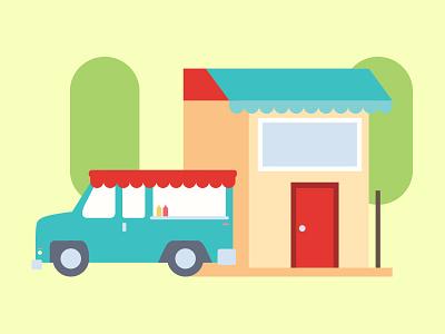 Food Site Illustration 2 food truck food restaurant