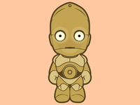 C3P0 c3p0 star wars character illustration