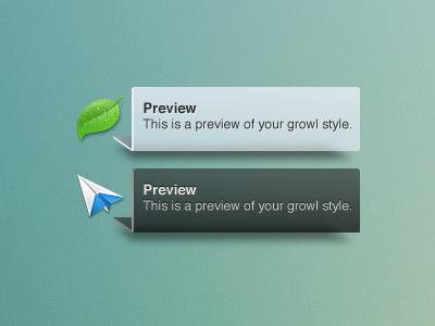 Custom Growl Style growl notification fold