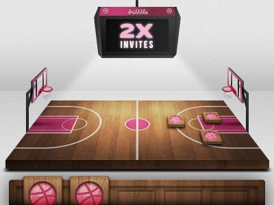 Dribbble Invites x2 invite dribbble play prospect court board game