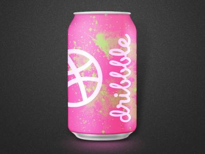 Dribbble Juice soda can drink