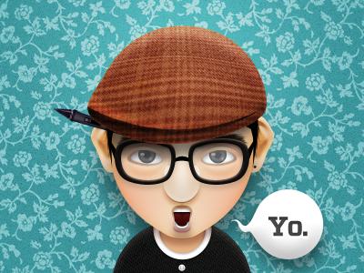 Yo. character illustration cartoon
