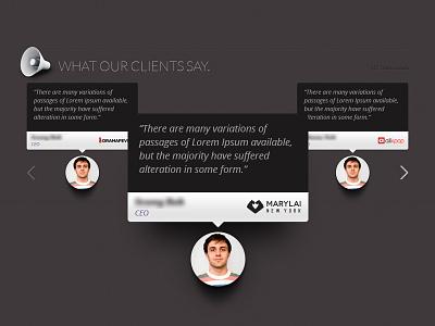 Client testimonials testimonial feedback client