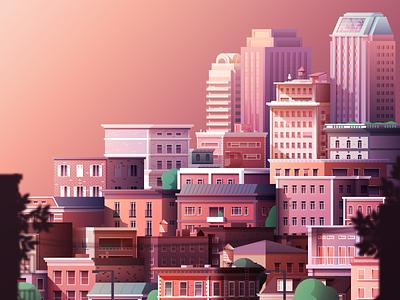 City Illustration city adobe illustrator vector illustration