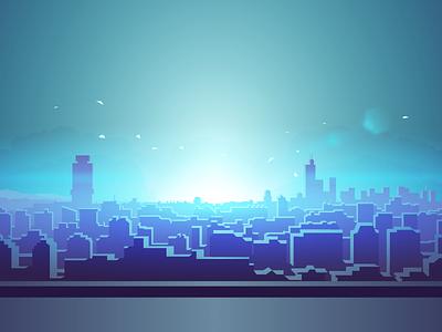 Dazzling Light custom keyboard anime ios city enlighten light lens flare themeboard illustration
