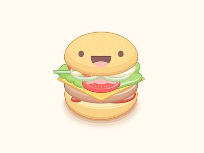 V Burger illustration guide burger adobe illustrator vegan pattern veganism
