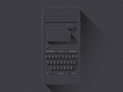 LS Keyboard grainy ios app sketch custom keyboard longshadow themeboard