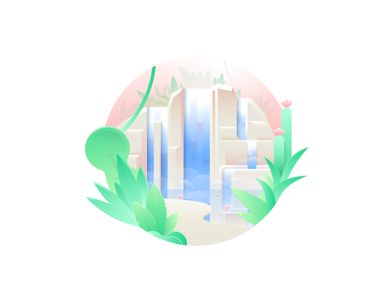 Waterfall dribbble 03