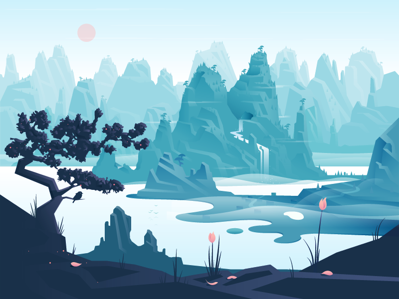 Dribbble scenery 01