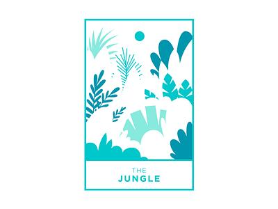 Jungle vector illustrator botanic negative space plant jungle
