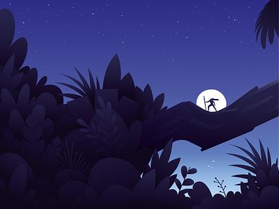 Tarzan of the Apes night plants jungle tarzan book book cover cover