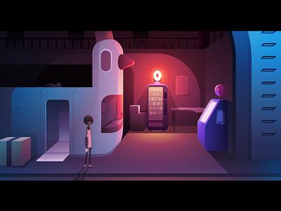 Docks ll neon game character duck donut light illustration vector