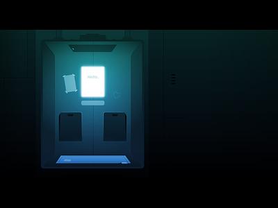 Elevator elevator game adobe illustrator gradient illustrator light illustration vector
