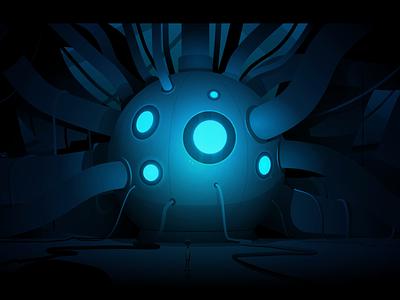 The Core robot gradient core game adobe illustrator light illustration vector