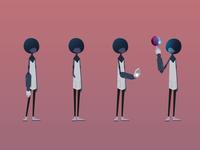 Epi game black character vector