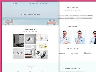 Hillock - Onepage Creative Portfolio Template professional one page template portfolio creative