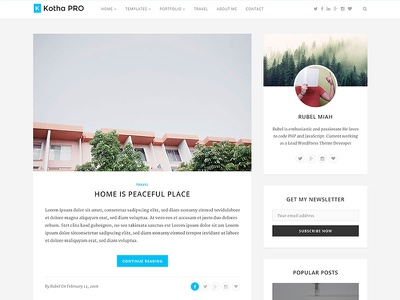 Kotha Pro - Responsive Blog Template template responsive modern dynamic contact form clean bootstrap template bootstrap blog template blog beautiful