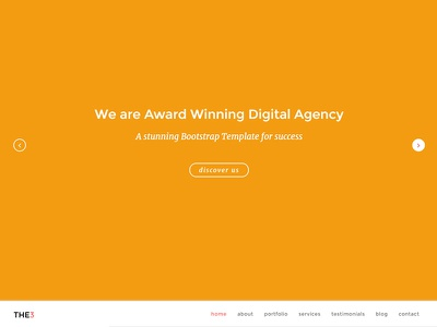 THE3 - Responsive One Page Template template sliders responsive portfolio one page creative corporate clean business agency template