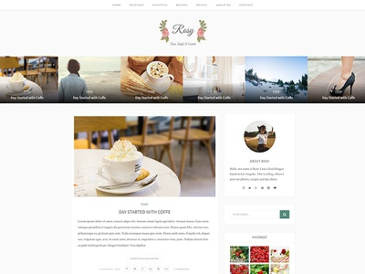 Beautiful Multiple Layout WP Blog Theme recipes beautiful fashion photography personal food travel business blog responsive simple clean