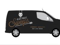 Black Magic Sweep Van Wrap