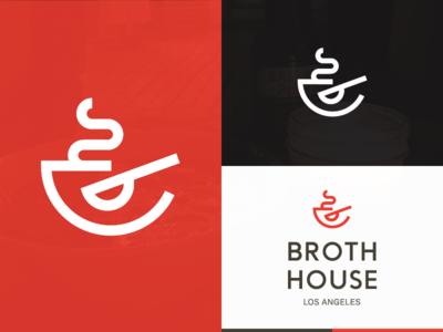 Broth  typography identity branding logo broth simple minimal lockup type mark