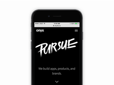 Pursue hand lettered type lettering brush mobile responsive typography web