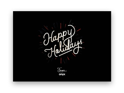 Holiday Card hand lettering script lettering holiday postcard holiday card
