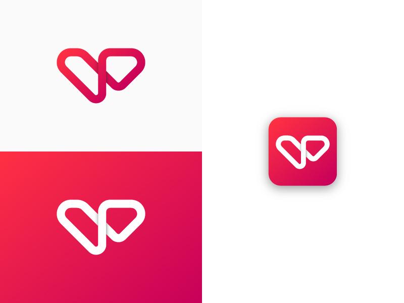 V Mark app icon app depth minimal simple logomark mark