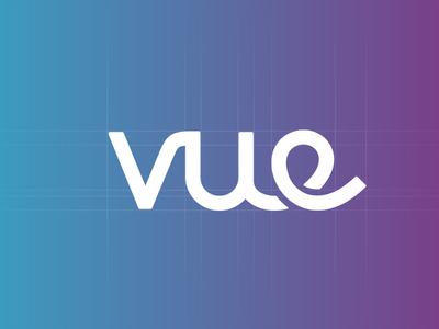 Vue Identity simple wordmark logotype brand logo