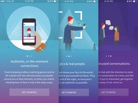 Onboarding screens simple playful mobile app welcome onboarding illustration