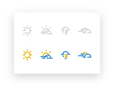 Weather & Location los angeles location simple monoline illustration icon weather