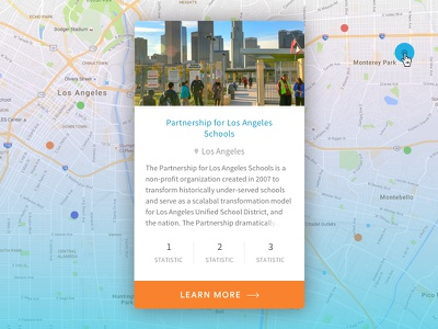 Map Card typography card ux ui